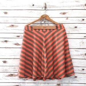 Banana Republic Outback Red • Orange/Gray Skirt